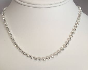 Crystal Collar Necklace and Earring Set