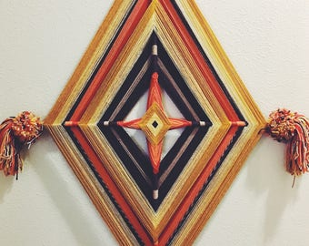 vintage wall hanging / giant wall hanging / retro wall hanging