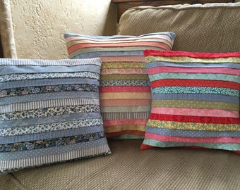 Pleated Calico Pillowcover