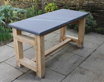 Slate outdoor table