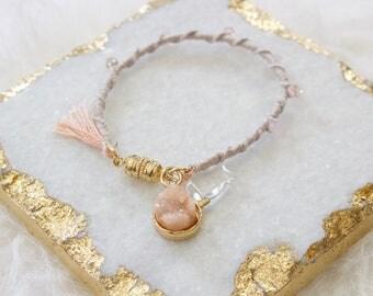 Round Quartz Charm Bracelet