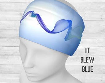 It Blew Blue Headband / Neck Scarf