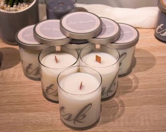 Soft Vanilla Candle - Wood Wick