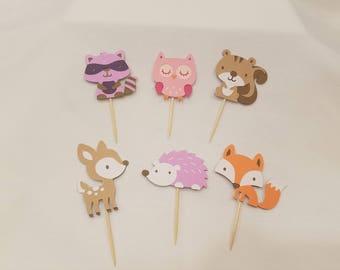 Woodland Cupcake Picks