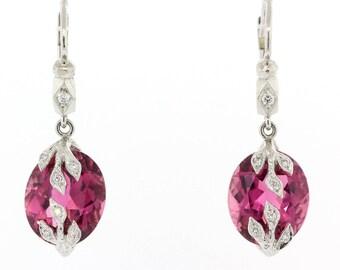 Cathy Waterman Tourmaline & Diamond Earring