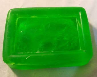 Green Loofah Scrub Soap