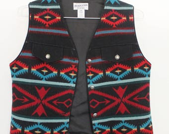 Pendleton Southwestern Wool Vest Medium