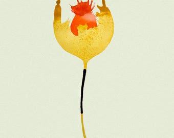 "Golden Poppie, 8""x12"" giclee print."