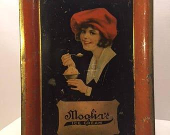 Antique Ice Cream Tray Moglia's Ice Cream