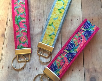 """5"""" Wristlets, Key Fobs, Lilly Pulitzer Inspired Key Chain"""