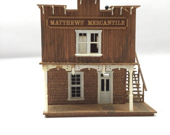 Handmade town shop for HO scale model train