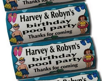 12 x Personalised Kitkat Wrappers Party Favours