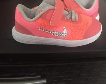Toddler size 9, Customized with Swarovski crystal diamonds!!!