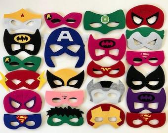Superhero Party Masks,  Superhero Party Supplies, Superhero Party, Batman Party, Superhero Birthday Party, Superhero Party Favors, Superhero