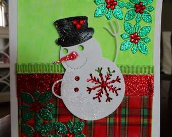 Snowflake, Snowman Card