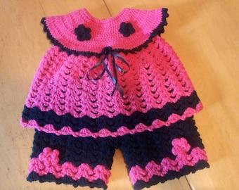 Ensemble printemps-été bébé 0-3 mois / Baby top and summer short pants 0-3 months