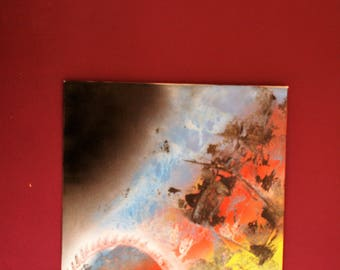 """""""HotSudden"""" abstract painting on canvas fine (40.6 x 50.8 cm)"""