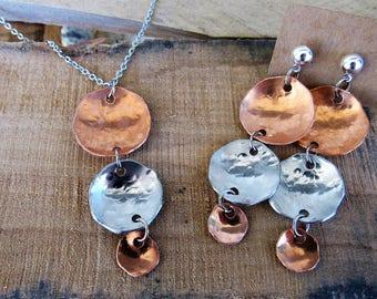 Triple Metal Dot Jewelry Set
