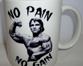 No Pain No Gain Bodybuilding Design Coffee Tea Mug