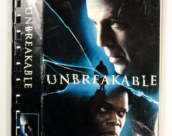 Recycled VHS Original Movie Box Notebook Sketchbook - UNBREAKABLE