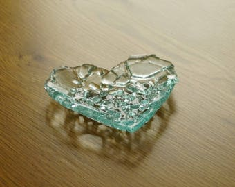 Mended Hearts Recycled Tempered Glass Dish