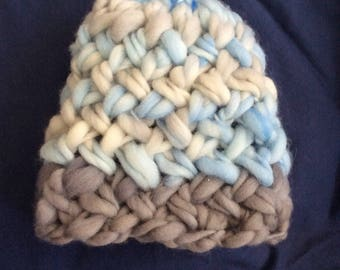Hand knit newborn hat