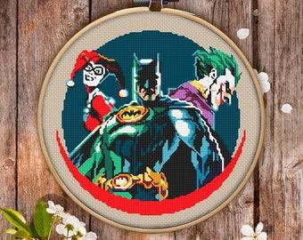 Batman Cross Stitch Pattern for Instant Download - 003| Cross Stitch PDF| Cool Cross Stitch| Modern Cross Stitch| Counted Cross Stitch