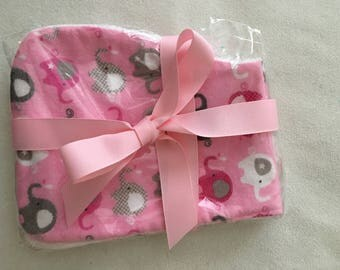 Set girl baby burp cloths