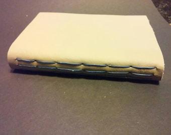 Hand bound leather sketchbook