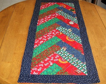 Christmas Braid Quilted Table Runner