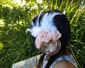 Elegant vintage inspired flower hair clip