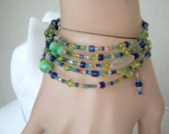 Memory site wrap bracelet