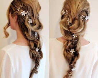 "Bridal Hair Vine ""Elizabeth"""