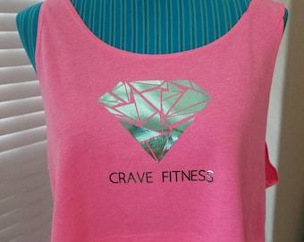 Crave Fitness Pink Crop top