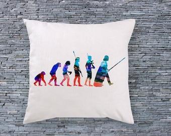 Human Evolotion Art Pillow - Art Pillow Cover - Art Throw Pillow - Fashion Pillow