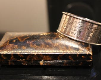 Antique Solid Silver Napkin Ring Dated 1929