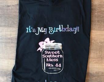 Birthday Mason Jar Shirt
