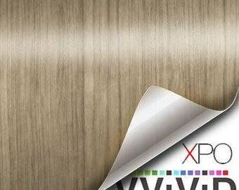 VViViD Light Teak Wood Grain Faux Finish Textured Vinyl Decal