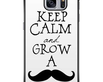 Shell Galaxy S5/S6/S7/S8 003 edges black Moustache