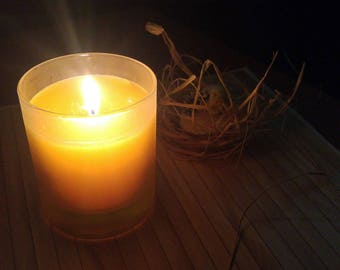 Tranquility Scented Yellow Candle with holder