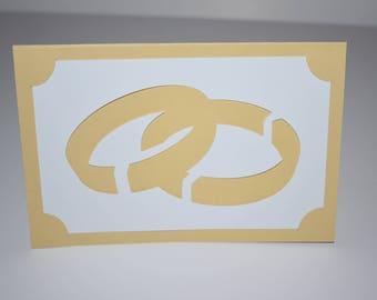 "Wedding Bands Invitation - 4x6"" Folded"