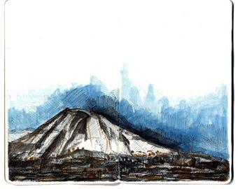 Japan Landscapes: Signed Watercolor Prints