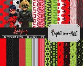 Miraculous Ladybug Digital Paper