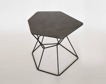 Unique coffee tables, Modern Industrial Coffee Tabel, design furniture, living room tabel, black coffee tabel, hexagon