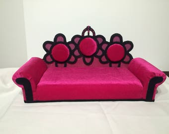 Handcrafted American girl doll royal sofa