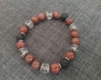 Red Sesame Jasper Diffuser Bracelet
