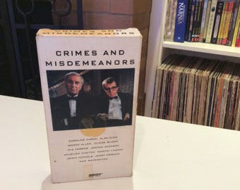 Crimes and Disdemeanours (1989) Woody Allen, Martin Landau - VHS Tape - Used