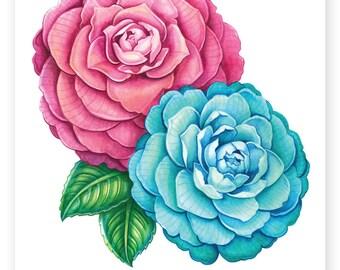 Camellias A4 digital PDF download