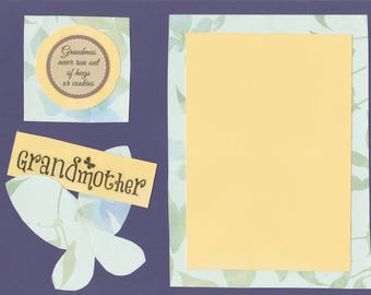 8x10 Grandmother Hugs and Cookies Scrapbook Page - great for framing and gifting!