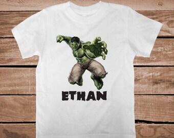 Superheroe Hulk Tee Tees T-shirt For Kids Hulk Smash T-Shirt Unique Hulk Tees Personalized Tees Boys Superheroes Onesies and Tshirts, aa28